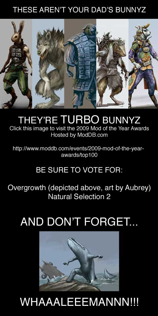 Vote for Overgrowth and Natural Selection 2 at ModDB's 2009 Mod of the Year Awards